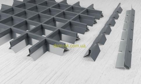 Пирамидальное грильято ячейка 75х75 мм , цвет белый RAL 9003