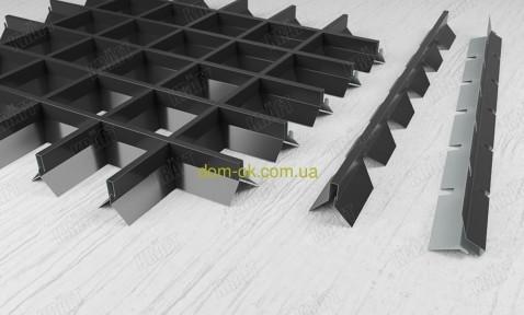 Пирамидальное грильято потолок,  ячейка 60х60 мм , цвет белый RAL 9003