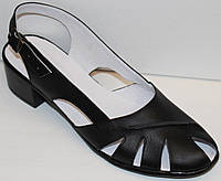 Босоножки женские черные на каблуке большого размера от производителя модель ВБ120Л-1