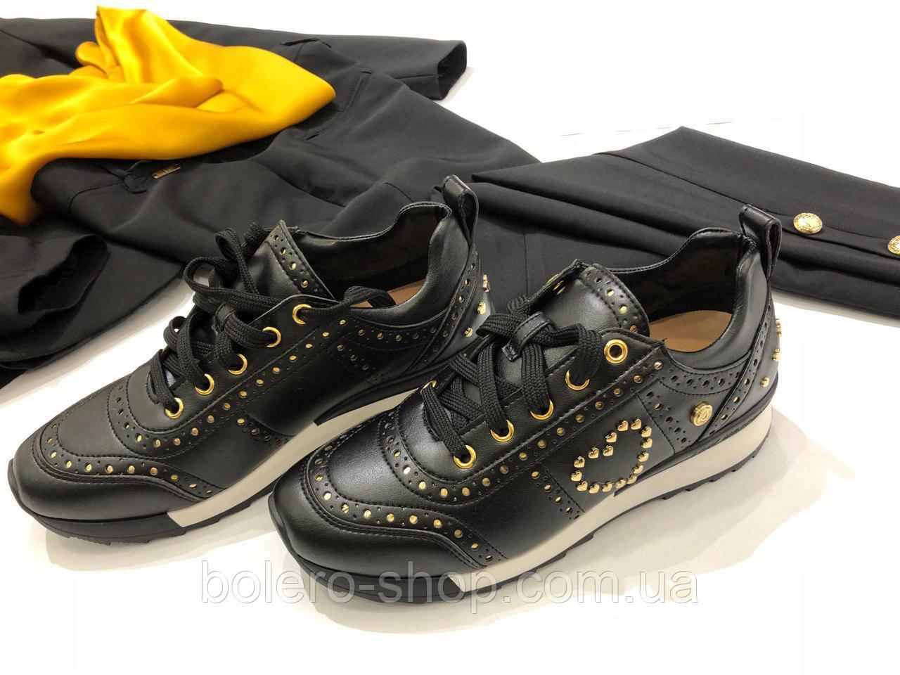 Кроссовки женские черный Moschino