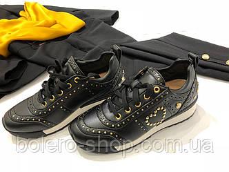 Кроссовки женские черный Moschino, фото 2