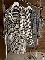Пиджак Женский Удлиненный с поясом шерсть