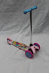 """Самокат ТК 58416 """"Принцессы""""колёса PVC, переднее колесо d=12см, заднее d=9см"""