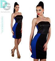 Платье из эко кожи 650 гл $