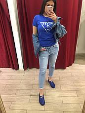 Женские мокасины синие Moschino, фото 2