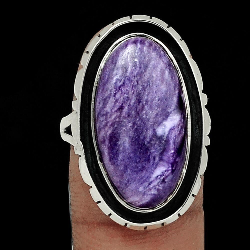 Чароит, серебро 925, кольцо, 1587КЦЧ