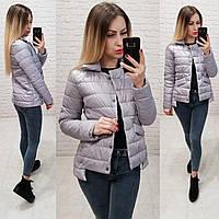 Стильная куртка на кнопках, арт 332, цвет серый