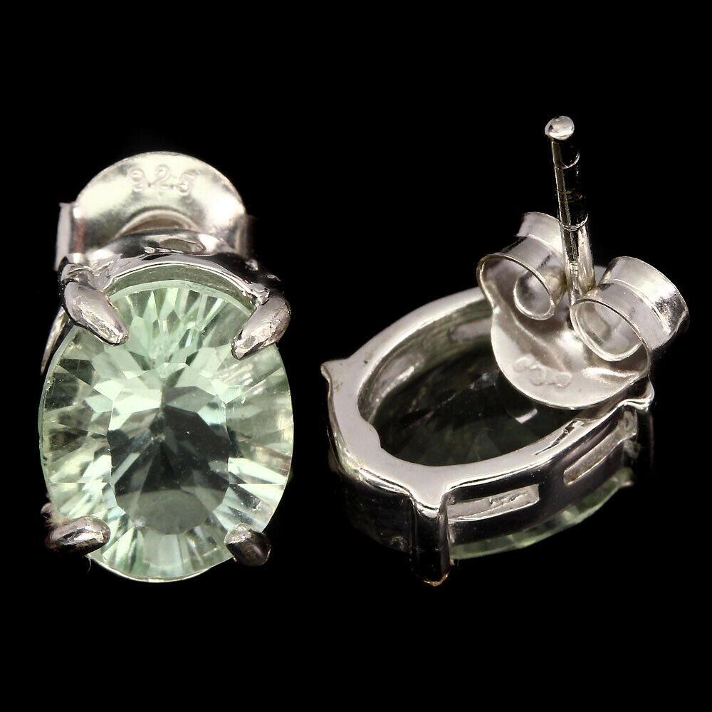 Серьги серебряные с флюоритами 095