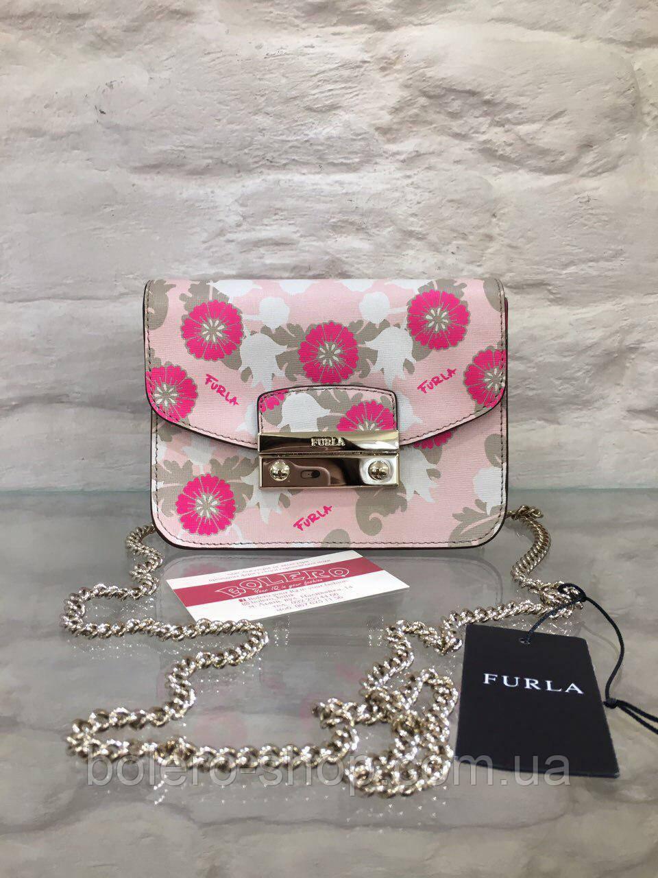 Сумка Италия Furla оригинал нежно-розовый