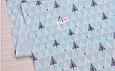 Сатин (бавовняна тканина) на м'ятних трикутниках ялинки, фото 2