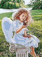 Картина по номерам на холсте Дыхание ангела KHO2330