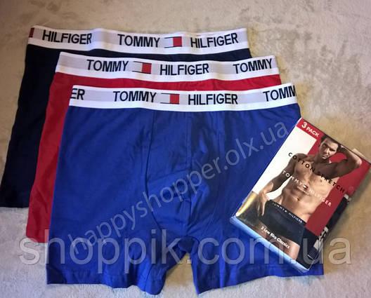 Мужские трусы Tommy Hilfiger боксеры хлопок, 3 шт. в уп.  Реплика, фото 2