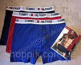 Мужские трусы Tommy Hilfiger боксеры хлопок, 3 шт. в уп. Супер качество. Реплика, фото 2
