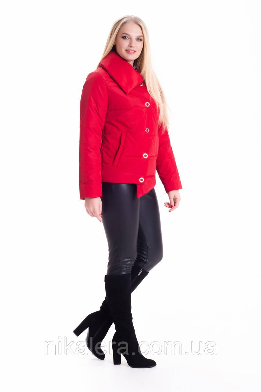 Стильная демисезонная куртка укороченного фасона рр 46-56