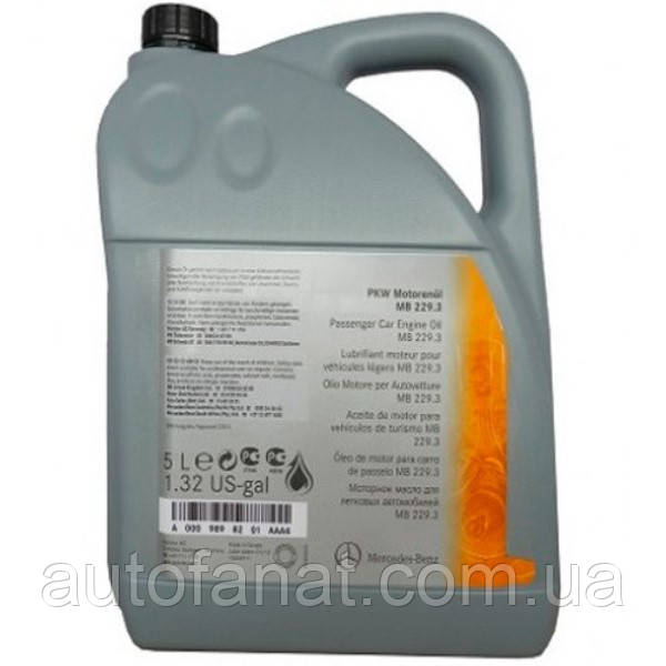 Моторное масло Mercedes-Benz Engine Oil 5W-40 229.3 5л (A000989910213)