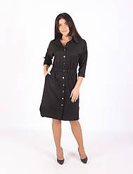 Платье из замша 1289 чёрного цвета