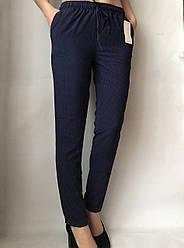 Женские летние штаны N°17С (горошек БАТАЛ)