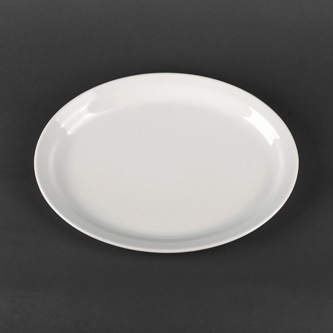 Овальное глубокое блюдо из белого фарфора Lubiana Ameryka 290х220 мм (158)