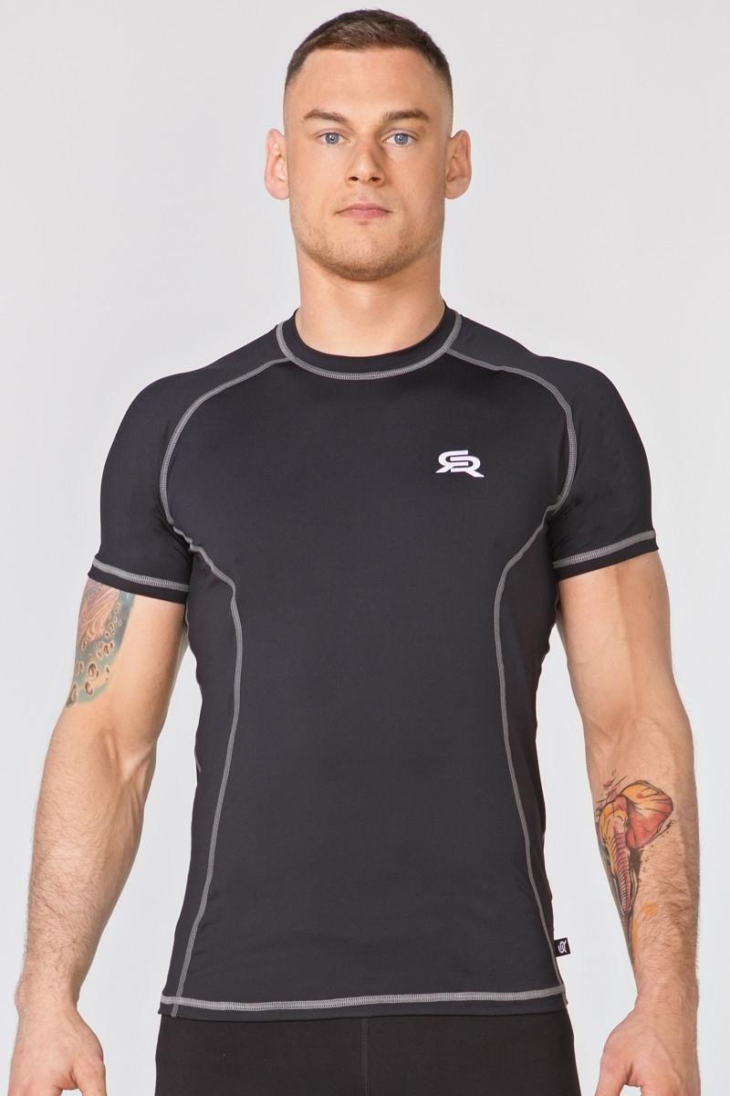 Компрессионная спортивная футболка Radical Spin SS, мужской рашгард с коротким рукавом