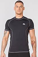 Компресійна спортивна футболка Radical Spin SS, чоловічий рашгард з коротким рукавом, фото 1
