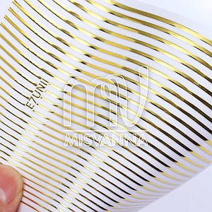 Гибкая лента для декора MIX золото