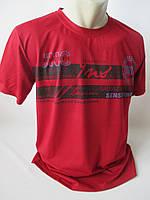 Красивые однотонные мужские футболки с надписью., фото 1