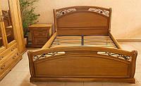 Дубовая кровать Роксолана двуспальная, фото 1