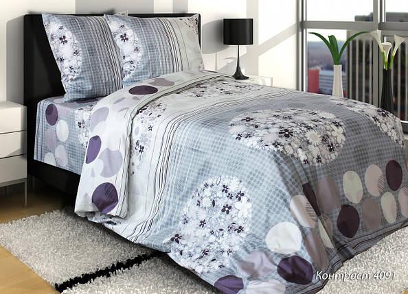 """Полуторное постельное белье """"Контраст"""" - 100% хлопок, фото 2"""