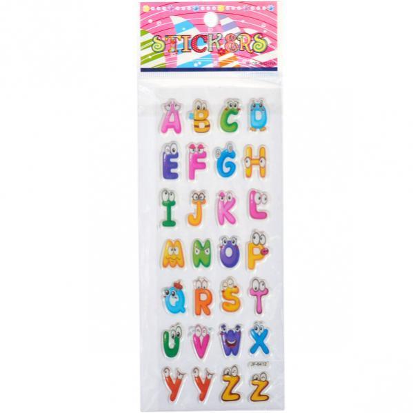 Наклейка JF Прозрачная «Английская азбука»   JF-1205-10