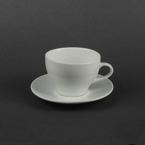Велика біла чашка з блюдцем HLS Чашка 300 мл + блюдце (HR1303)