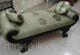 """Кушетка в стиле Барокко  """"Виктория """" с подушками, из натурального дерева, с резьбой"""
