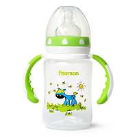 Бутылочка для кормления Fissman с ручками и широким горлышком,салатовая