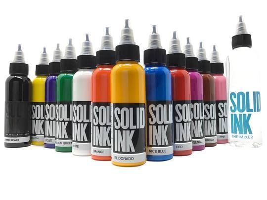 Сет (набор) краски SOLID INK Spectrum Set 12 цветов по 1 унц (30мл) + разбавитель