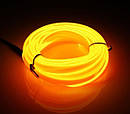 Гибкий светодиодный неон - 3м ленты, толщина 2.3мм на батарейках 2 AA, фото 4