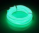 Гибкий светодиодный неон - 3м ленты, толщина 2.3мм на батарейках 2 AA, фото 9