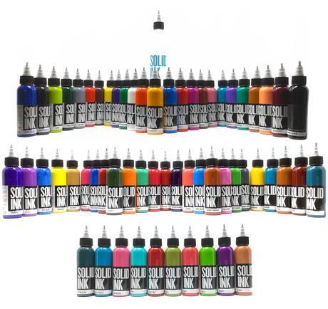 Сет (набор) краски SOLID INK Mega Set 60 цветов по 1 унц (30мл)