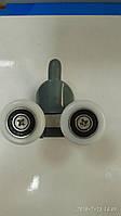 Ролики для душевых кабин В43D двойные c кнопкой