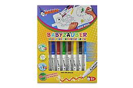 Фломастеры смываемые для малышей Malinos Babyzauber 10 шт с раскраской