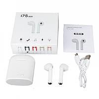 Беспроводные Bluetooth наушники I7S TWS Stereo Белые