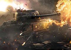 Картина GeekLand World of Tanks Мир танков огонь 60х40 WT 09.001