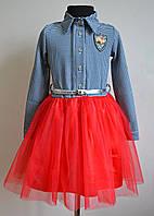 Нарядное детское платье на девочку 122, 128 размер
