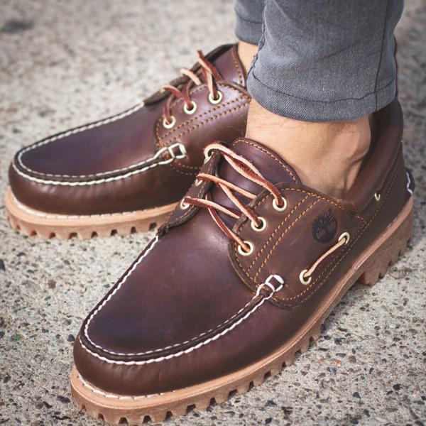 cf3666716f6f Оригинальные мужские топсайдеры Timberland Trad Hs 3 Eye Classic Lug Brown  - Sport-Boots -