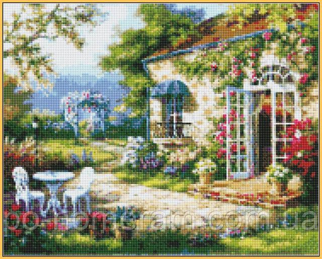 алмазная мозаика Летняя терасса купить в Киеве