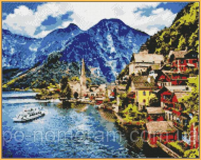 алмазная мозаика с подрамником Альпы купить