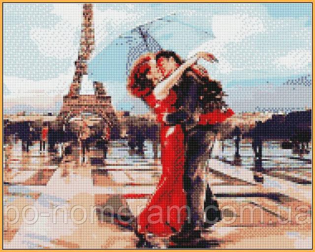 рисование камнями на подрамнике пара в Париже купить