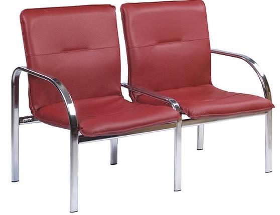 Кресло для ожидания Staff -2 Chrome ТМ Новый Стиль, фото 2