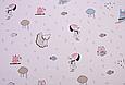 Сатин (хлопковая ткань) котики, собачки с зонтиками, фото 3