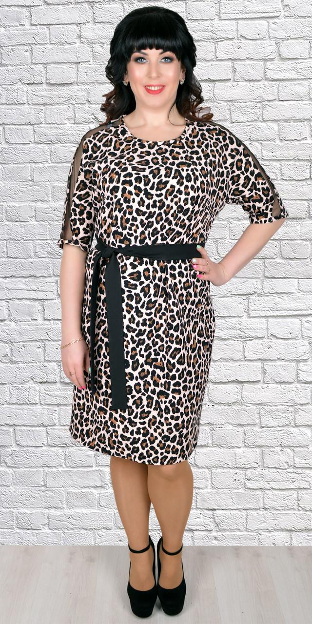 Батальное платье с леопардовым принтом