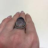 Кольцо чароит капля перстень с чароитом размер 19 кольцо с камнем чароит Индия, фото 7