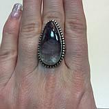 Кольцо чароит капля перстень с чароитом размер 19 кольцо с камнем чароит Индия, фото 6